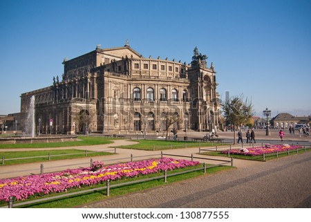 the semper opera in Dresden - Germany - stock photo