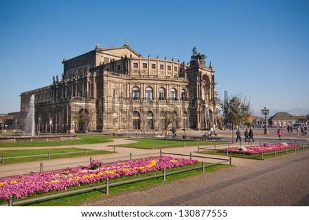 the semper opera in Dresden - Germany - stock photo