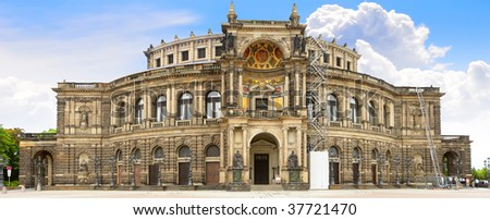 The Semperoper -the Opera House of the Saxon State Opera Dresden, Germany - stock photo