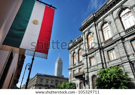 The Senate of Mexico building in Mexico City, Mexico. - stock photo