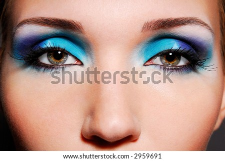 The sensual eyes , beautiful make up and bright colore