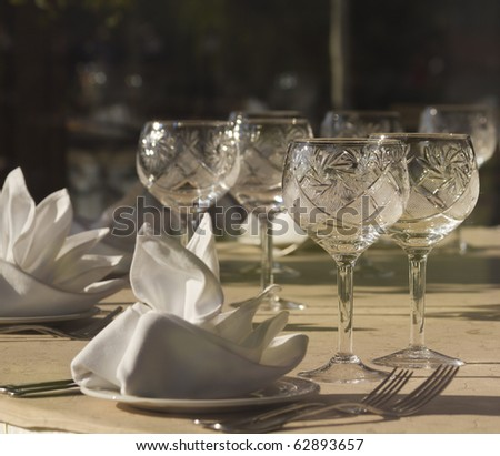 The served table - stock photo