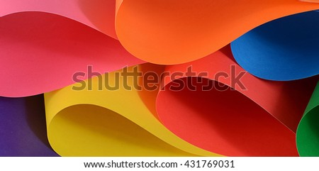 The set of color paper close up