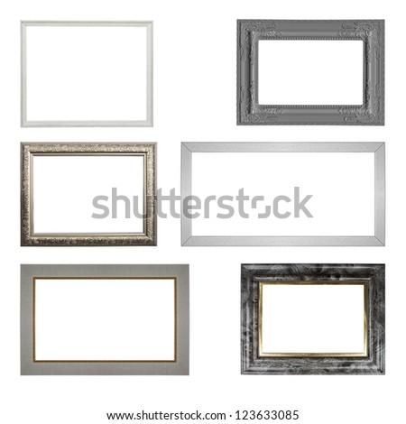 the set of frames isolated on white background - stock photo