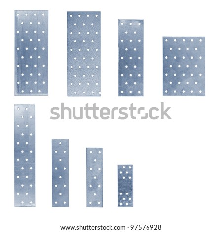 the set of perforated plates