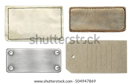 The set of various labels with copy space for your text isolated over white background