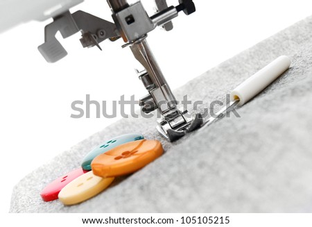 The sewing machine . . - stock photo
