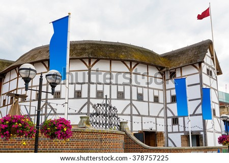The Shakespeare Globe Theatre in London. England, UK - stock photo