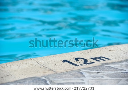 the shallow end of the pool - stock photo