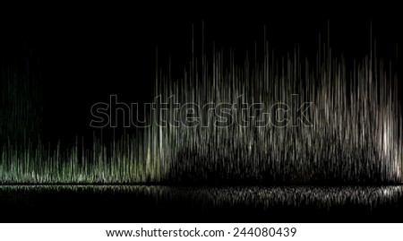 The shape of the wave - stock photo