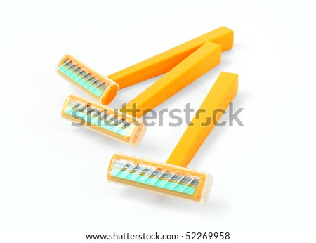 The shaving machine tool isolated on a white background - stock photo