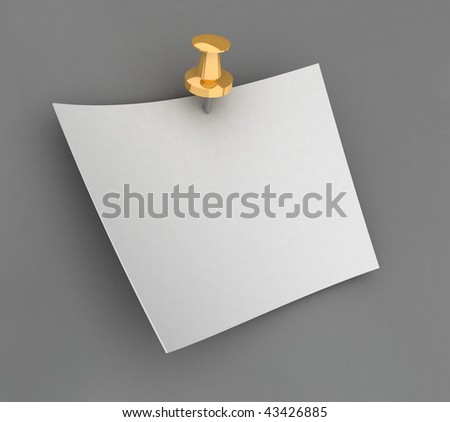 The sheet of paper on a gray background