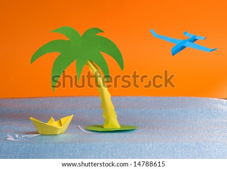 The ship and the plane - stock photo