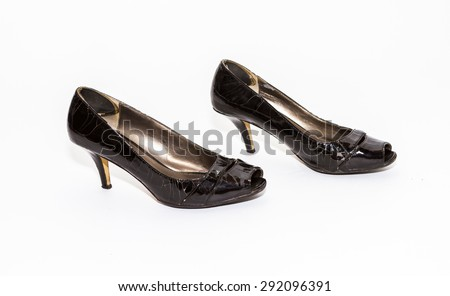 The shoe on white isolate with clipping path for decorate project.