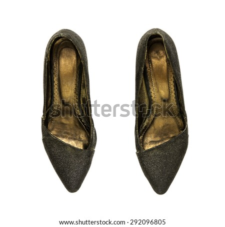 The shoe on white isolate with clipping path for decorate project. - stock photo