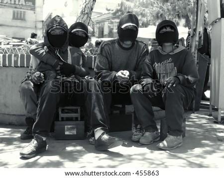 The Shoe Shine Gang - stock photo