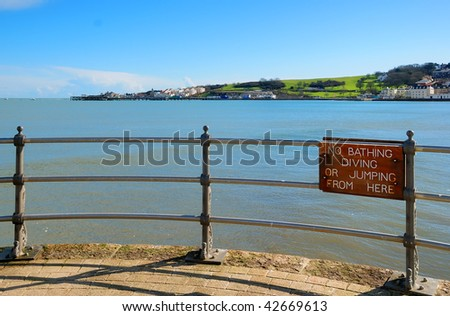 The shoreline in Swanage, Dorset (UK) - stock photo