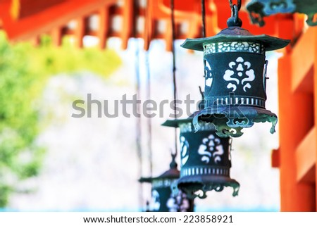 The Shrine is ranked as a Beppyou Jinja (the top rank for shrines) by the Association of Shinto Shrines. It is listed as an important cultural property of Japan - stock photo