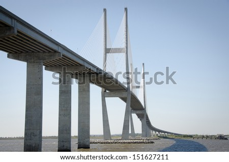 The Sidney Lanier Bridge is a cable-stayed bridge that spans the Brunswick River in Brunswick, Georgia, carrying four lanes of U.S. Route 17 along the coast between Savannah, GA and Jacksonville, Fl.