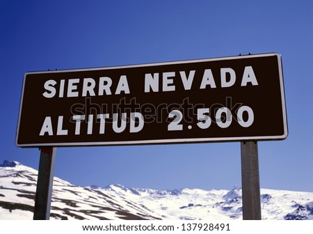 The Sierra Nevada in Spain is one of the best ski resorts in the country..Not only in winter time but also in the summer - stock photo