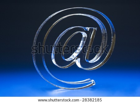 The Sign Email on turn blue the background. - stock photo