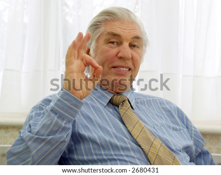 The sign meaning everything is OK - stock photo