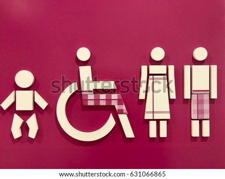 Bathroom Sign Language Symbol bathroom sign stock images, royalty-free images & vectors