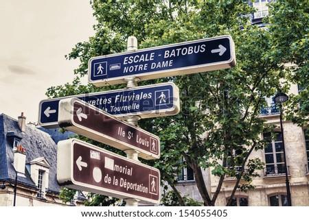 The signal in Paris. - stock photo