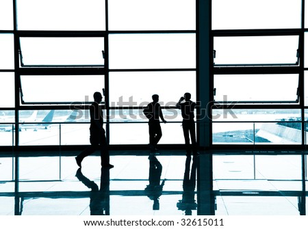 the silhouette of a building interior shanghai china. - stock photo