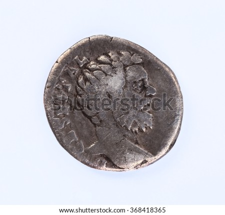 The silver coin of the Roman emperor Clodius Albinus (c. 150-197)