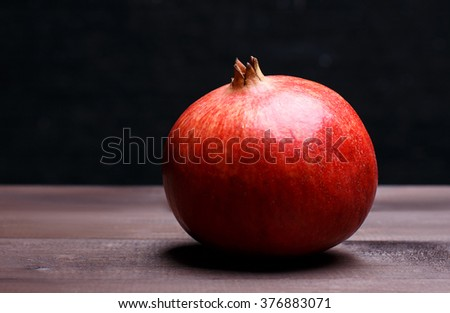 the simple pomegranate - stock photo