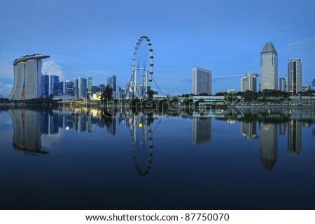 The Singapore skyline - stock photo