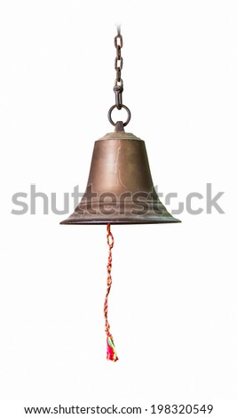 The single bell on white isolate background.