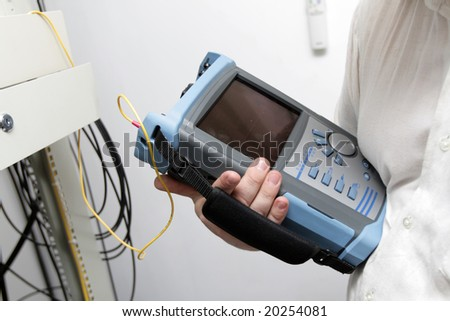 The site survey on a communication center - stock photo