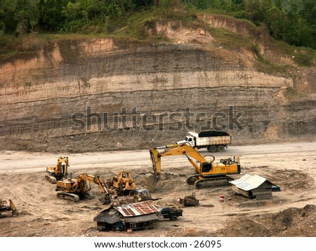 The situation of Coal mining site