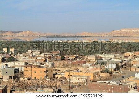 The Siwa Oasis in the Sahara of Egypt
