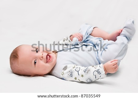 The six-month-old kid - stock photo