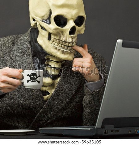 Skeleton At Desk Stock Photos Images Amp Pictures