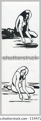 The sketch - stock photo