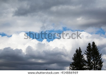 The sky and clouds on the sky  - stock photo