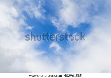 The sky and the misty cloud background - stock photo