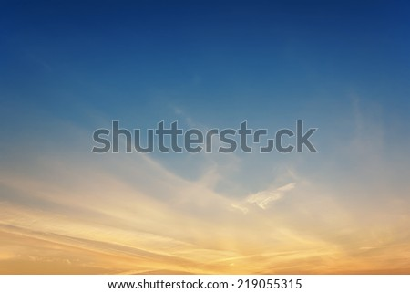 The sky at sunset / sunrise - stock photo