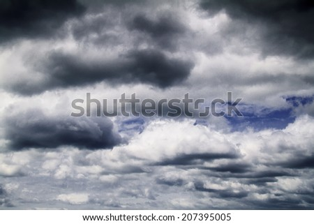 The sky before storm coming. - stock photo