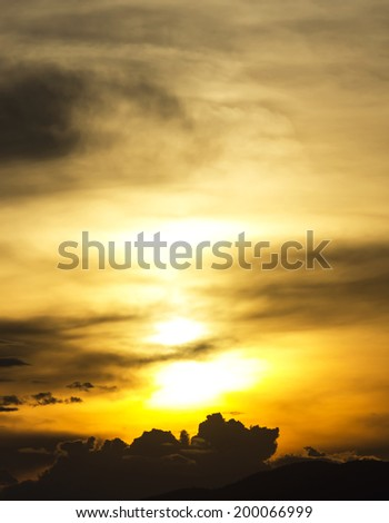 The sky  before sunset - stock photo