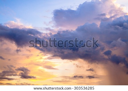 The sky in twilight time background - stock photo