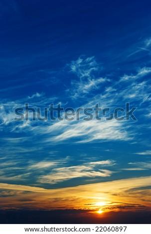 The sky. Sunrise - stock photo