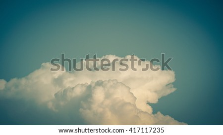 The sky with clouds as vintage background