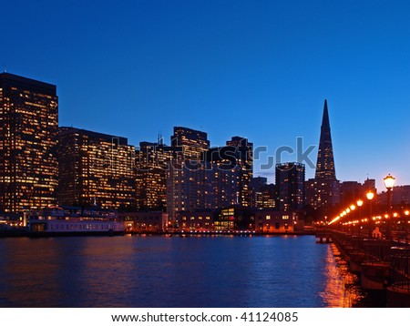 The Skyline of San Francisco at night