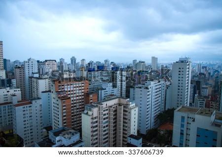 The skyline of Sao Paulo, Brazil, South america. - stock photo