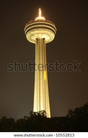 The Skylon tower at Niagara Falls, Canada - stock photo